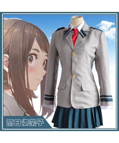 My Hero Academia Uraraka Izuku Shoto Todoroki School Uniform Cosplay Costume