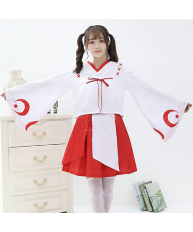 Inuyasha Kikyo Kimono Cosplay Costumes Halloween