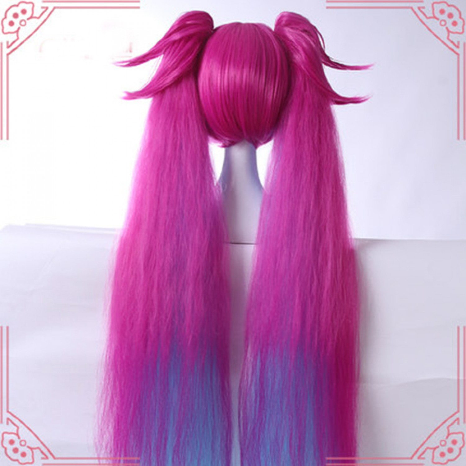 League of Legends LOL Angela Long Cosplay Wig With Ponytail