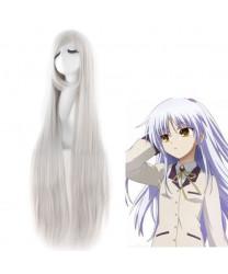 Angel Beats! Tachibana Kanade Long Silver Cosplay Wig 100 cm