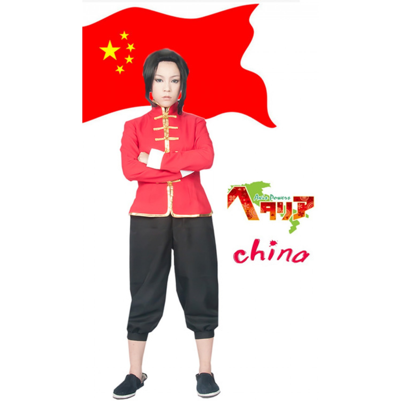 Axis Powers Hetalia China Wang Yao Tang Cosplay Costume