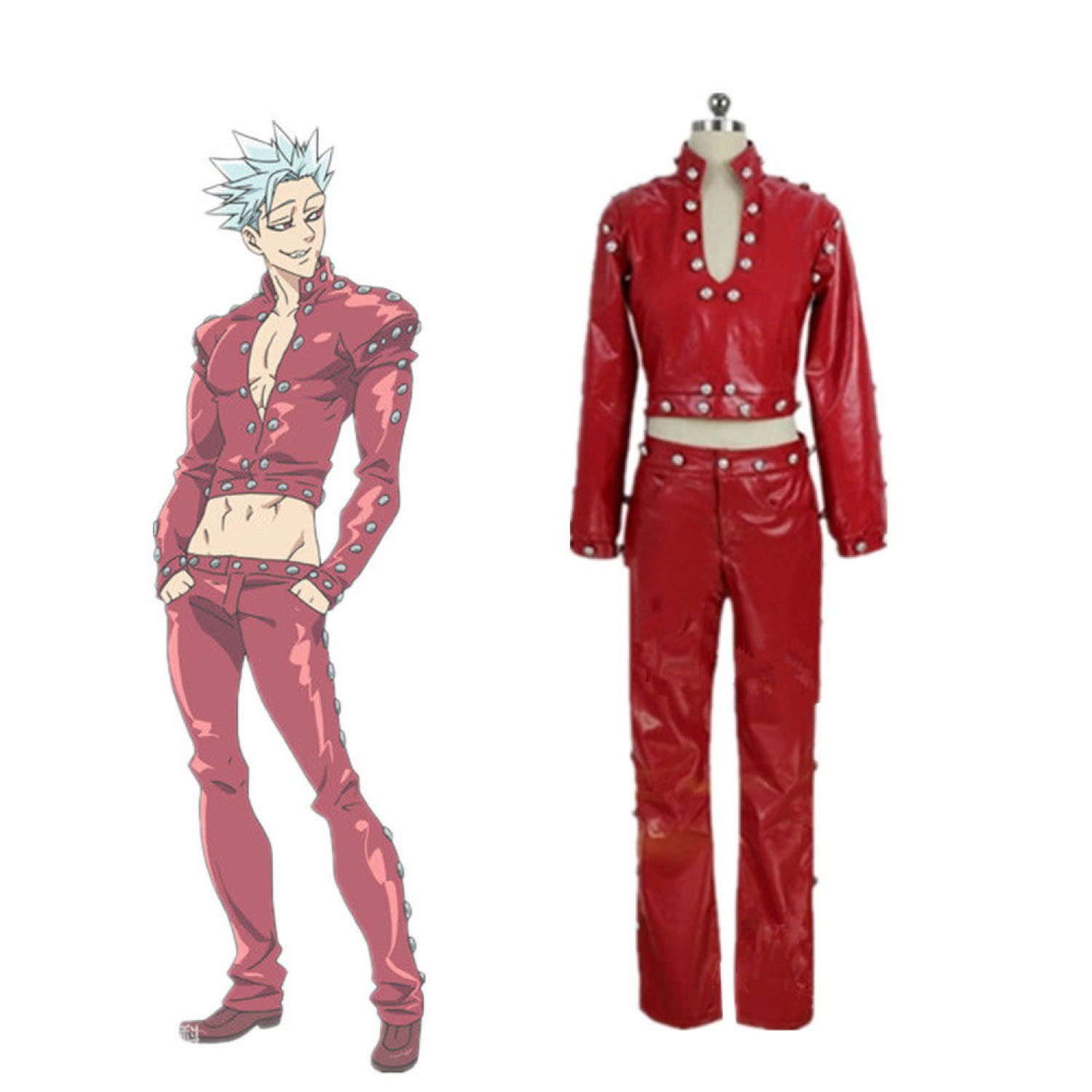 The Seven Deadly Sins Fox's Sin of Greed Ban Cosplay Costumes