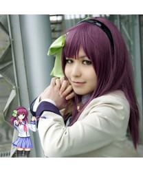 Angel Beats! Nakamura Yuri Purple Long Straight Cosplay Wig