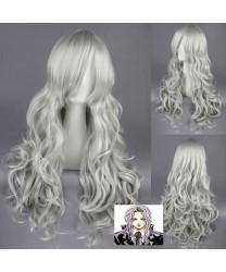 Angel Sanctuary Rosiel Long Wavy Gray Cosplay Wig
