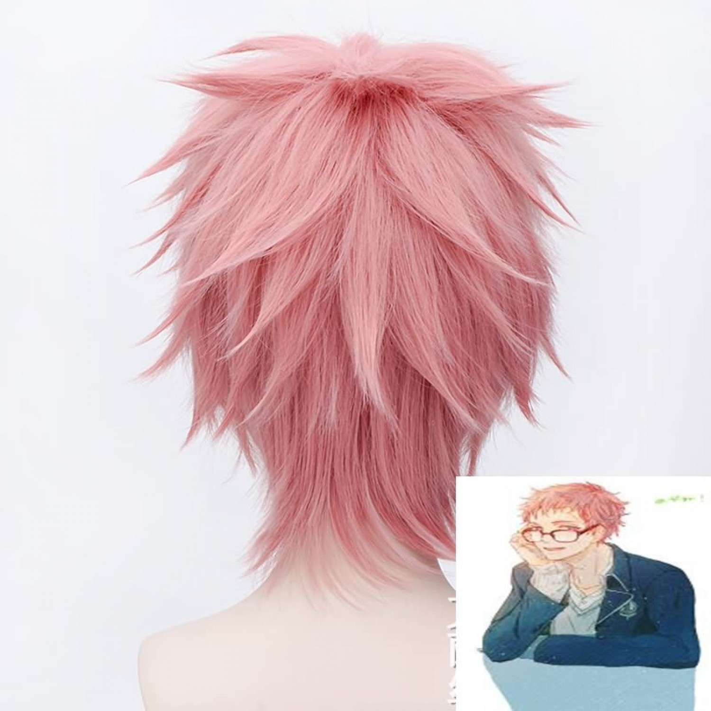 Ao no Exorcist Shima Renzou Pink Short Cosplay Wig