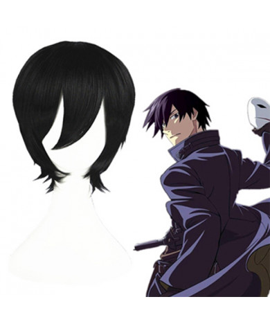 Ao No Exorcist Okumura Rin Black Short Cosplay Wig