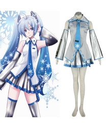 Vocaloid Snow Miku 1ST Cosplay Costumes