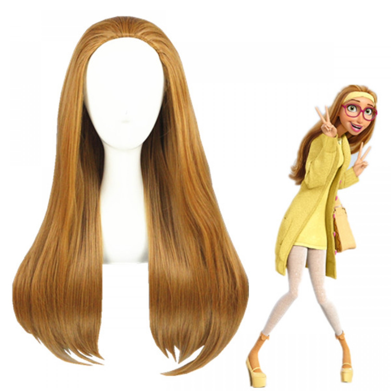 Big Hero 6 Honey Lemon Brown Anime Cosplay Wig