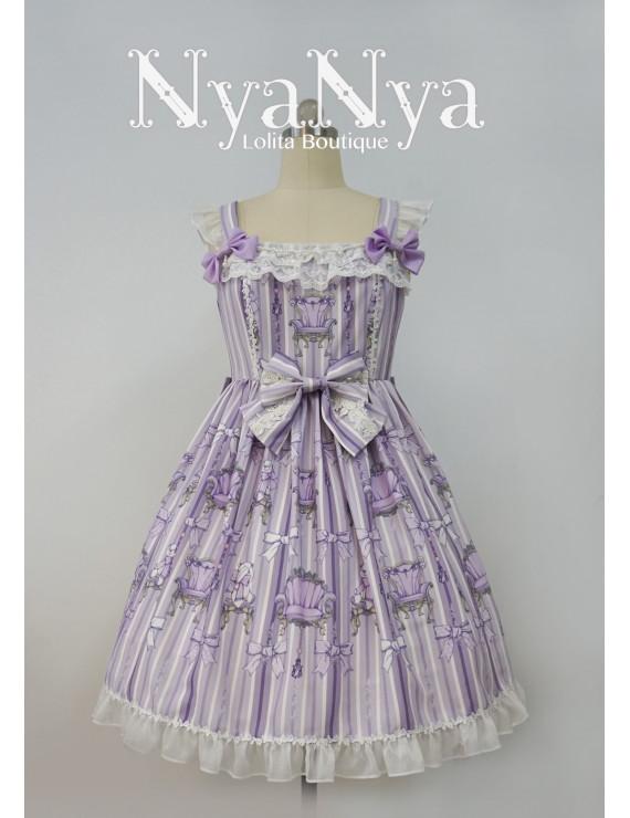 Bear Prince Printed lace strap Lolita Dress