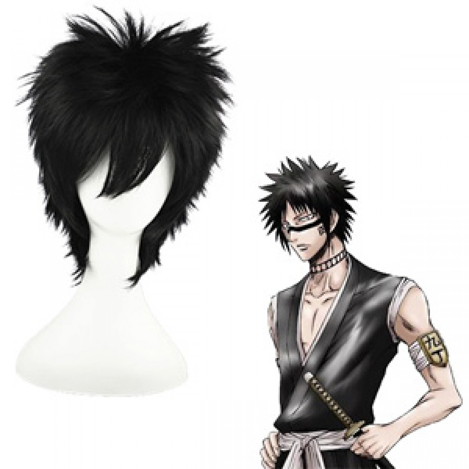 Bleach Hisagi Shuuhei Black Short Cosplay Wig