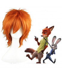 Zootopia Nick Wilde Short Orange Cosplay Wig