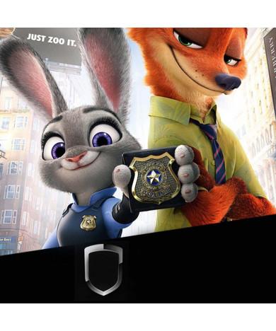 Zootopia Judy Hopps Rabbit Constable Police Badge Brooch Metal Cosplay