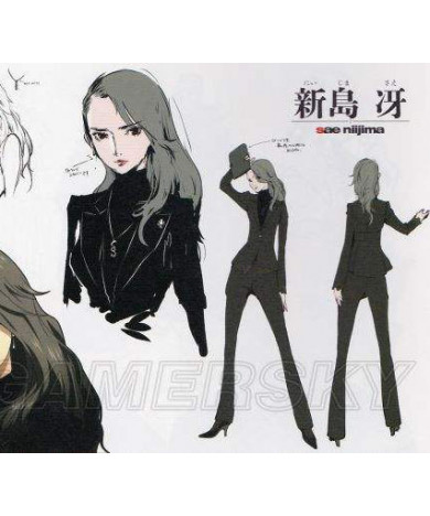 Persona 5 P5 Procurator Sae Niijima Gray Party Cosplay Wig