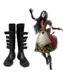 Alice Madness Returns Alice Black Cosplay Shoes