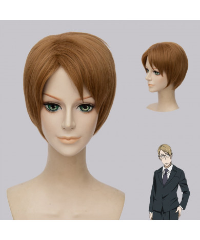 91 Days Valbero Brown Short Cosplay Wig