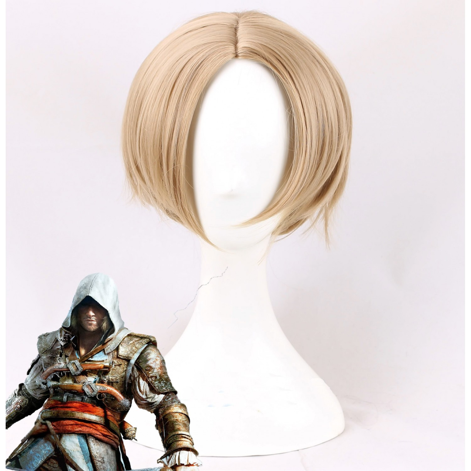 Assassin's Creed Edward James Kenway Cosplay Wig