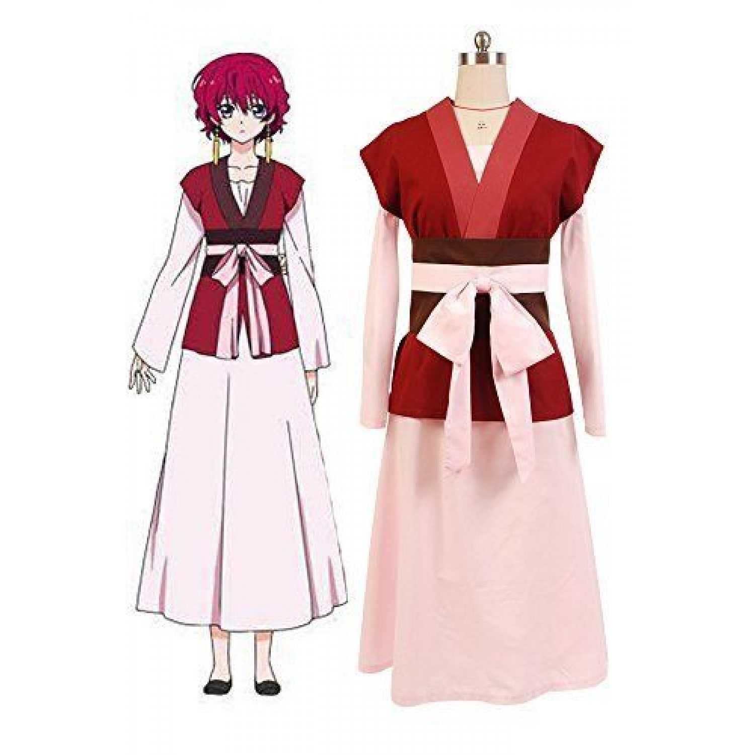 Akatsuki no Yona Hak Uniform Outfit Kimono Robe Cloak For Anime Cosplay!COS Y