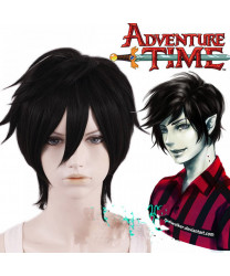 Adventure Time Marshall Lee the Vampire King Black Short Cosplay Wig