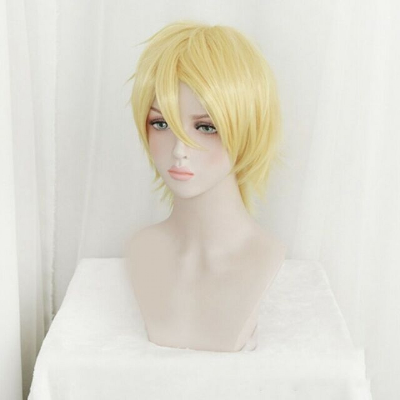 Banana Fish Ash Lynx Blonde Short Cosplay Wig