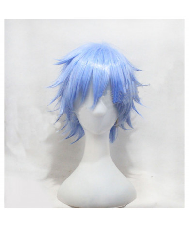 A Certain Magical Index Blue Short Aogami Pierce Cosplay Wig
