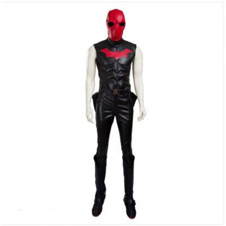 Batman Jason Todd PU leather Cosplay Costumes