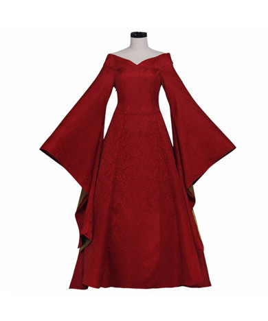 Game of Thrones Cersei Lannister Red Dress Cosplay Costume