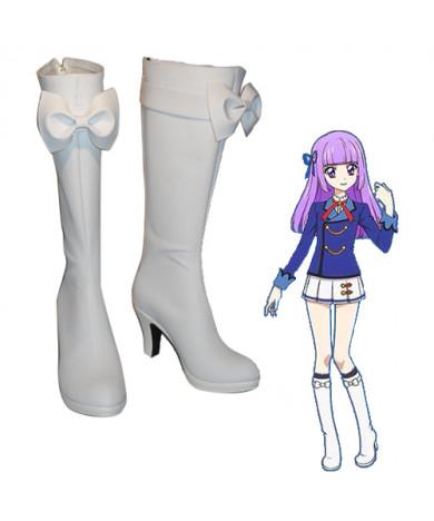 Aikatsu! Todo Yurika Hoshimiya Ichigo White High heeled Cosplay Boots