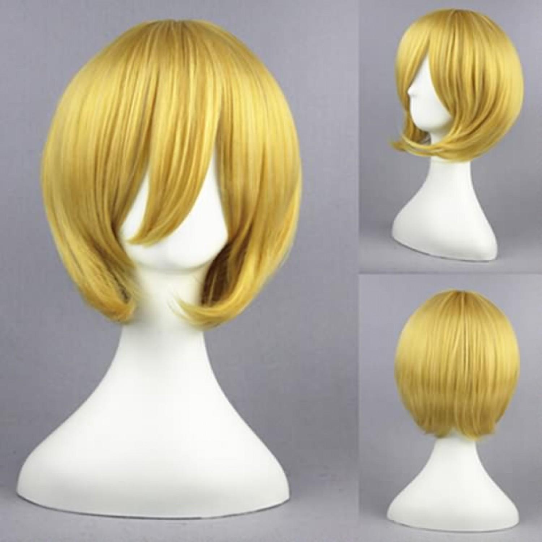 Bakuman Takagi Akito Golden Short Straight Cosplay Wigs