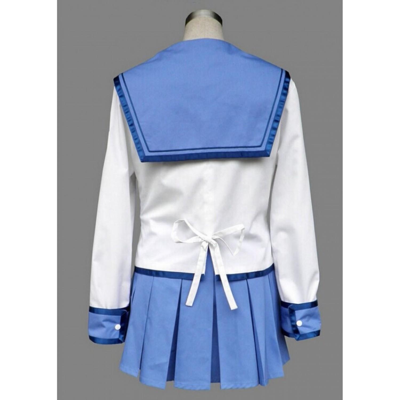 Angel Beats ! Yuri Nakamura Uniform Outfit Japan Anime Cosplay Costume