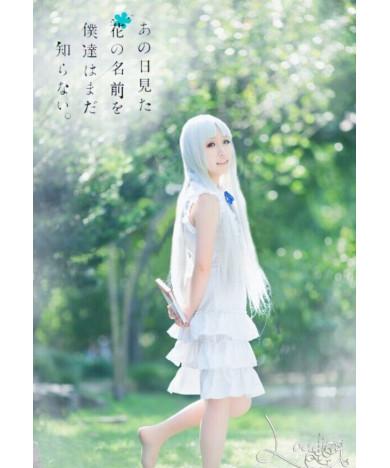 Anohana Meiko Honma Lolita Dress Cosplay Costume