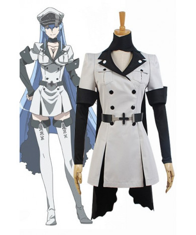 Akame Ga KILL! Esdeath Empire General Apparel Uniform Outfit Japan Cosplay Costume