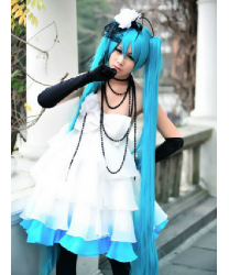 Vocaloid Miku dress Japan Anime Cosplay Costume