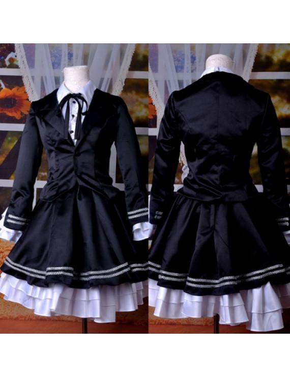 Vocaloid Miku Secret Police Anime Dress Cosplay Costume