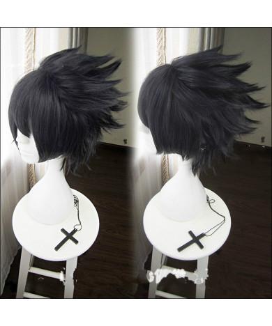 Naruto Uchiha Sasuke Ink Cyan Short Anime Cosplay Wig