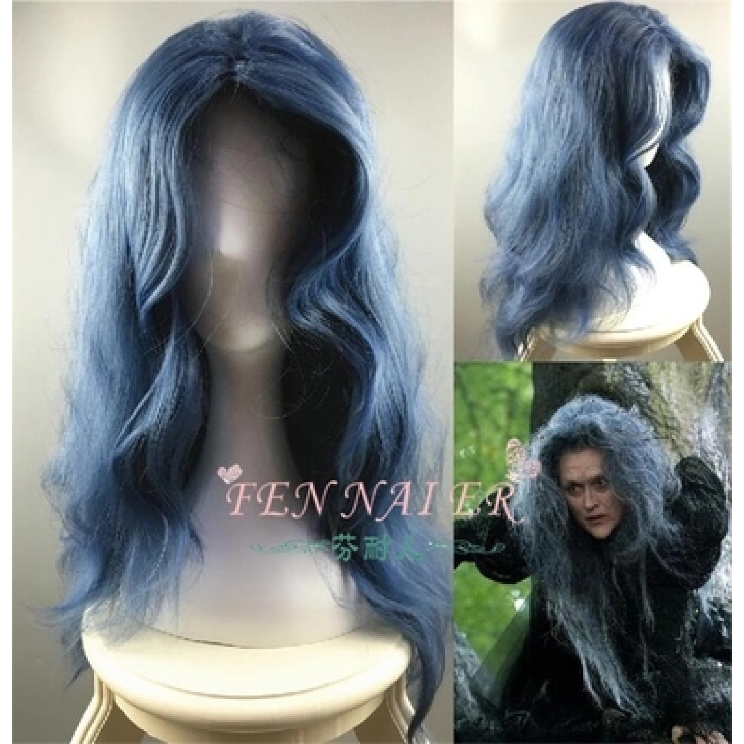 Into the Woods Witch Disney Movie Long Curly Cosplay Wig