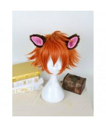 Zootopia Nick Wilde Short Orange Cosplay Wig + Ears