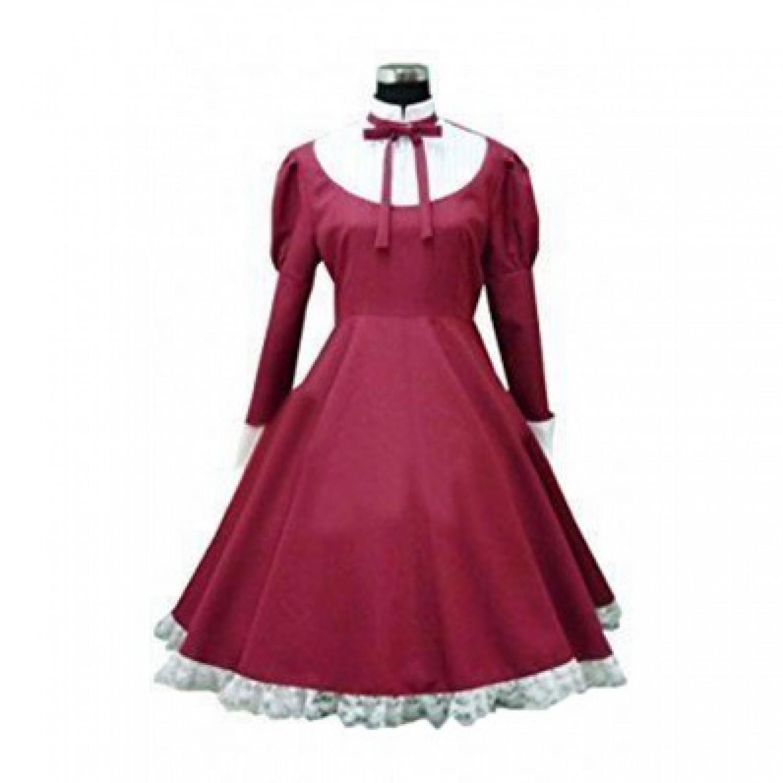 Axis Powers Hetalia Liechtenstein Red Dress Cosplay Costume