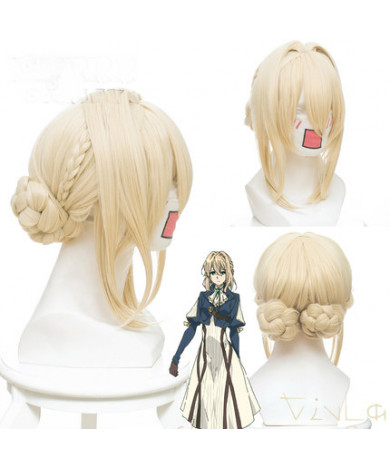 Violet Evergarden Violet Evergarden Short Light Golden Cosplay Wig