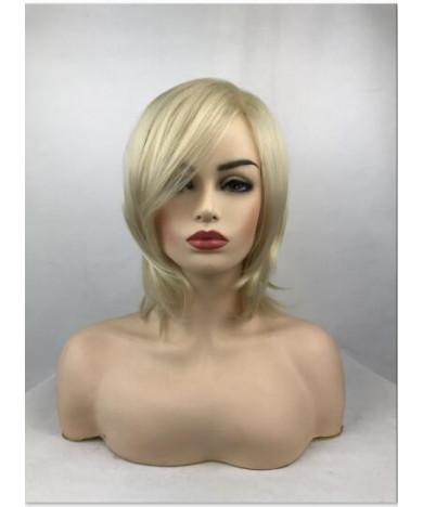 Blonde Short Straight Synthetic Hair Full Wig for Women