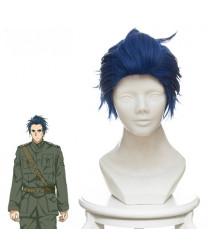 Violet Evergarden Gilbert Bougainvillea Blue Short Styled Cosplay Wig