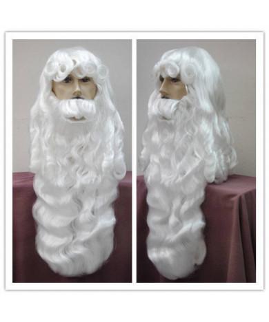 2018 Santa Claus Wig Beard Set Heat Resistant Fiber Christmas Party Wig