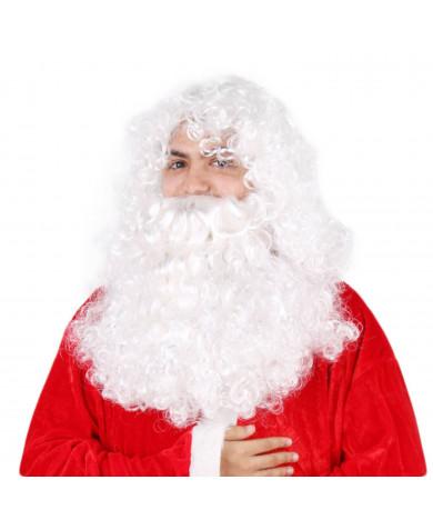 Christmas Santa Claus Costume Wig Beard Set
