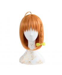 Love Live! Sunshine!! Orange Short Staight Heat Resistant Fiber Cosplay Wig