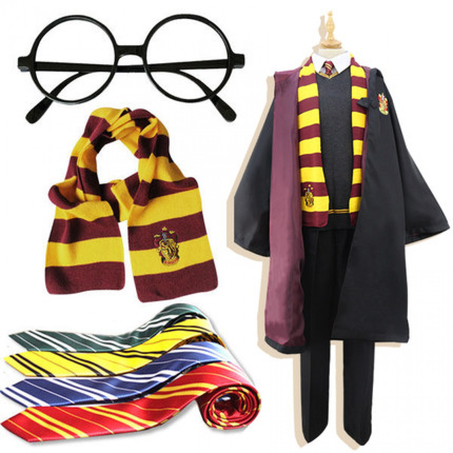 Harry Potter Gryffindor Harry Potter Cosplay Costume Free
