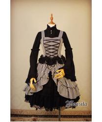 sweater long sleeve Gothic Stripe Lolita JSK Dress
