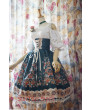 AlpenRose Gothic Ethnic Surface Spell Party Lolita High Waist Fishbone Skirt