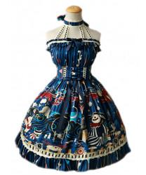 Sweet Lolita Dress Magic Tea Party Gondola Original Print JSK Dress