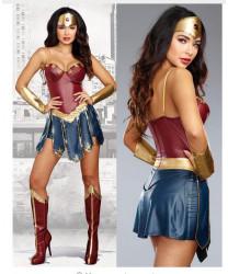Deluxe Superwomen Dawn Of Justice Superhero Fancy Dress Cosplay Costume