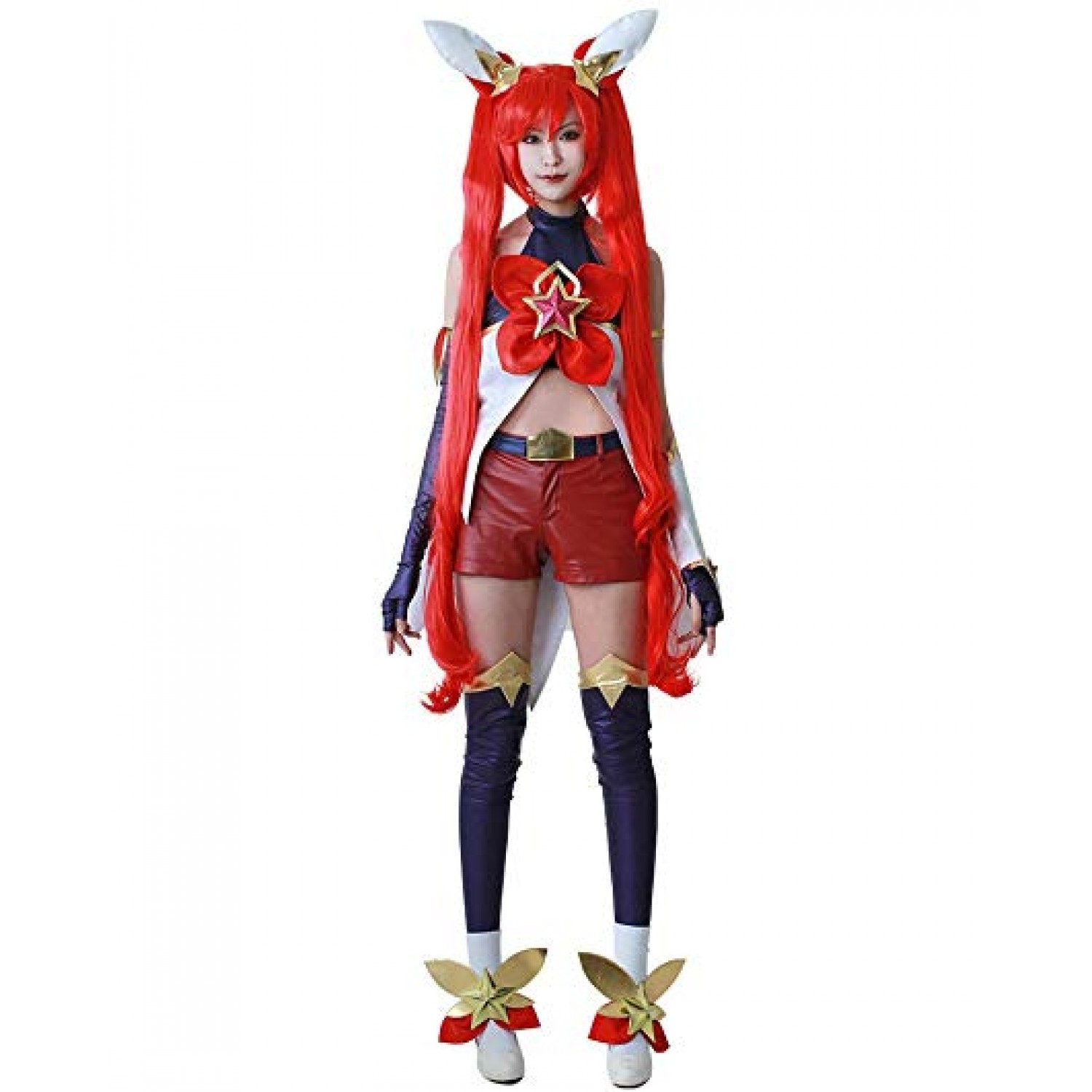 League of Legends Star Guardian Jinx Red Sweet Cosplay Costume