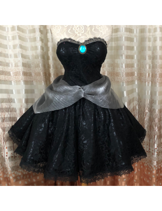 Super Mario Bros Bowsette Princess Dress Cosplay Costume